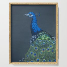 Proud as a Peacock Serving Tray