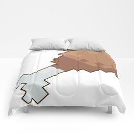 8 bit chicken Comforters