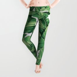 Tropical banana leaves VI Leggings