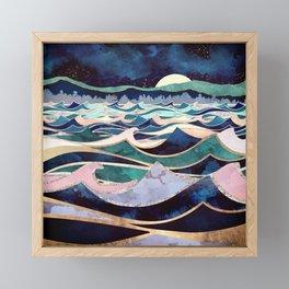 Moonlit Ocean Framed Mini Art Print