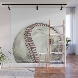 Vintage Baseball Art Wall Mural
