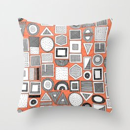 frisson memphis bw orange Throw Pillow