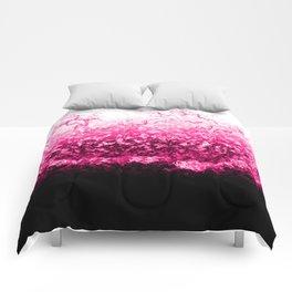 Pink Water Splash Comforters
