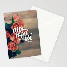 All Things Work Together For Good (Romans 8:28) Stationery Cards