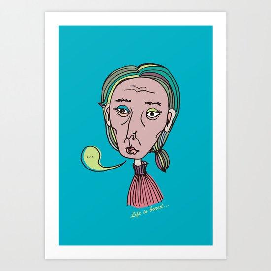 A Bored Granny Art Print