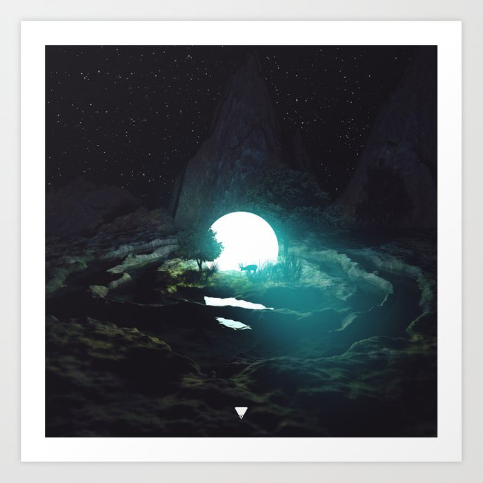 DEER IN THE HEADLIGHTS ∀ Art Print