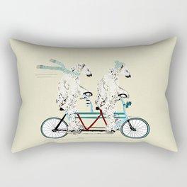 polar bears lets tandem Rectangular Pillow