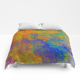 Abstract in Washed Textures Comforters