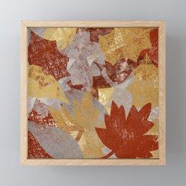 Fall Leaves Framed Mini Art Print