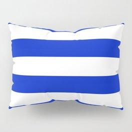 Cobalt Blue and White Wide Cabana Tent Stripe Pillow Sham