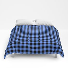 Classic Sky Blue Country Cottage Summer Buffalo Plaid Comforters