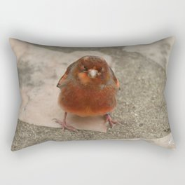 Cute runaway canary bird Rectangular Pillow