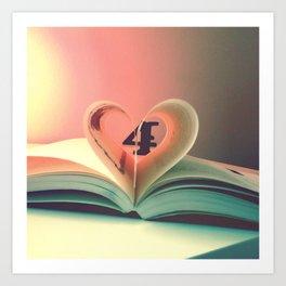 Book of hearts Art Print
