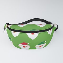 Christmas Santa Clause Wallpaper Christmas Pattern Fanny Pack