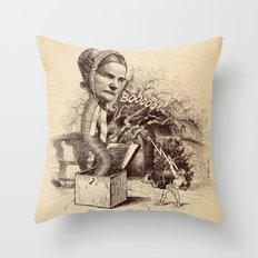 The Striking of the Lasia Monster Throw Pillow