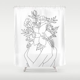 Blossom Hug Shower Curtain
