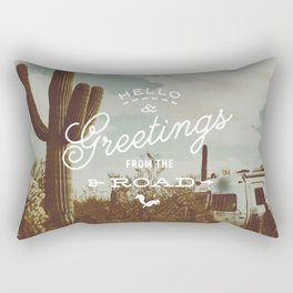 Greetings From The Road (cactus) Rectangular Pillow