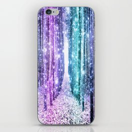 Magical Forest Lavender Aqua Teal Ombre iPhone Skin
