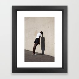 Leaning Framed Art Print