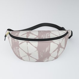 Simply Braided Chevron Clay Pink on Lunar Gray Fanny Pack