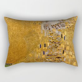 The Woman In Gold Bloch-Bauer I by Gustav Klimt Rectangular Pillow
