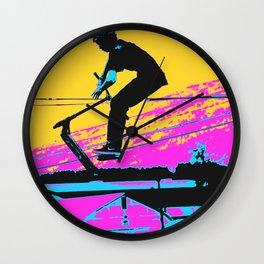 Free Falling - Stunt Scooter Rider Wall Clock