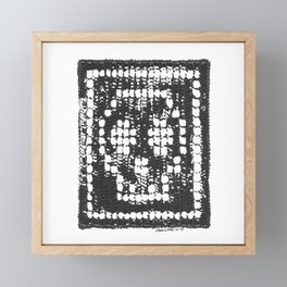 Crochet Impressions: SKULL Framed Mini Art Print