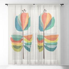 Whimsical Bloom Sheer Curtain