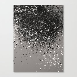 Silver Gray Glitter #1 #shiny #decor #art #society6 Canvas Print