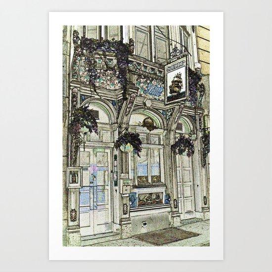 The Ship Public House London Art Print