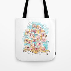 Wild Family Series - Snow Monkey Tote Bag