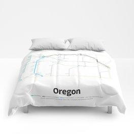 Highways of the USA – Oregon Comforters