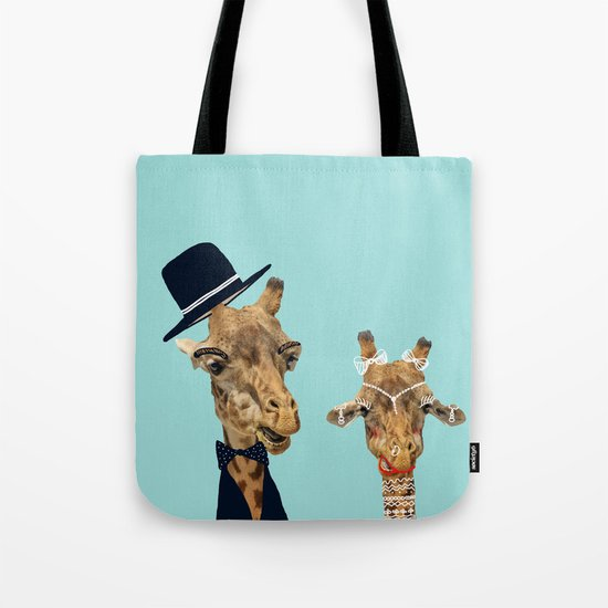 Funny Bride and Groom Tote Bag