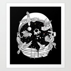 Depth of Discovery (A Case of Constant Curiosity-B/W) Art Print