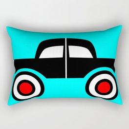 Black Car Two Directions Rectangular Pillow