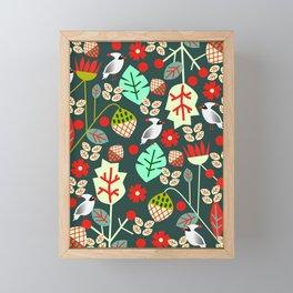 Cardinal garden Framed Mini Art Print