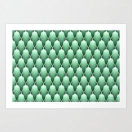 Spring Green Scallops Art Print