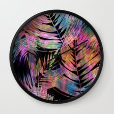 Waikiki Tropic {Black} Wall Clock