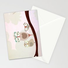 Mother owl and children Stationery Cards