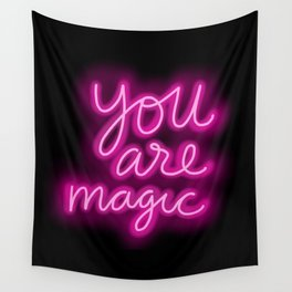 You Are Magic neon Wall Tapestry