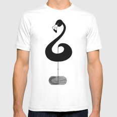 Musical Flamingo X-LARGE White Mens Fitted Tee