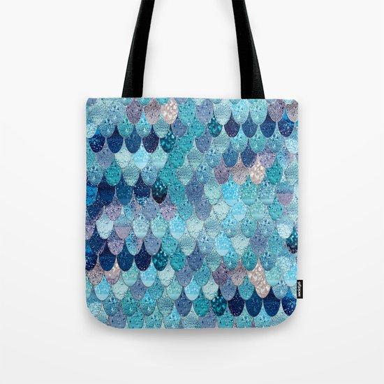 SUMMER MERMAID DARK TEAL Tote Bag