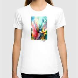 Yellow Flower by Kathy Morton Stanion T-shirt