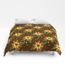 Beautiful Flowers with Heart Pistil Pattern Comforters