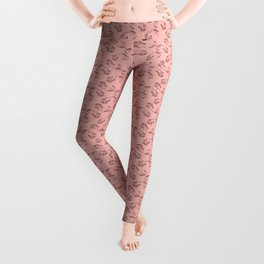 Wake Up Tiger - Coral Leggings