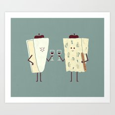 Frencheese Art Print