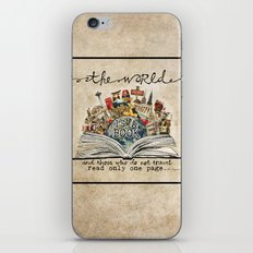 The World Is A Book iPhone & iPod Skin
