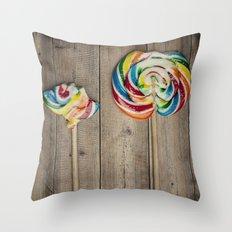 Life of a Lollipop Throw Pillow