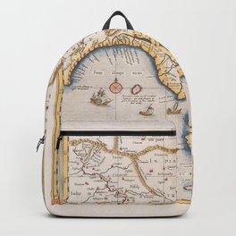 Vintage Map Print - 1695 Map of the Ganges Delta Backpack