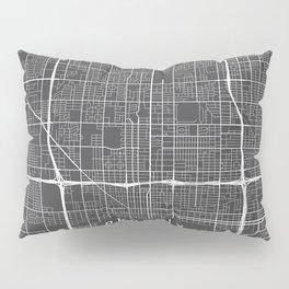 Phoenix Map, Arizona USA - Charcoal Portrait Pillow Sham
